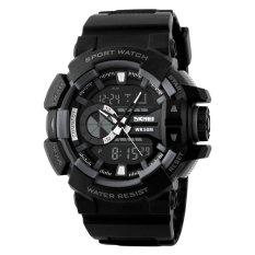 SKMEI Men's Fashion Dual Time Analog-Digital Rubber Band Sport Watch
