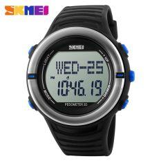 SKMEI S-Shock Heartrate & Pedometer Sport Watch Water Resistant 50m - DG1111HR - Black / Blue