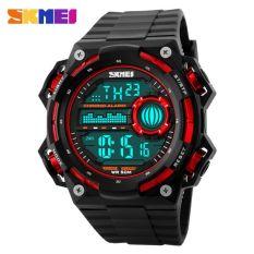 SKMEI S-Shock Militer Sport Watch Water Resistant 50m - DG1115 - Black / Red