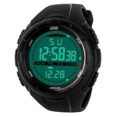 SKMEI S-Shock Sport Watch Water Resistant 50m - Jam Tangan Replika - Hitam