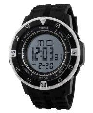 SKMEI Sports Men's OLA-SK1089B Multifunctional Waterproof Digital Display Watch White - Intl