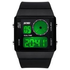 SKMEI Unisex Loves Sport Waterproof Rubber Strap Wrist Watch - Black 0841 (Intl)
