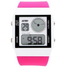 SKMEI Unisex Loves Sport Waterproof Rubber Strap Wrist Watch - Pink 0841 (Intl)