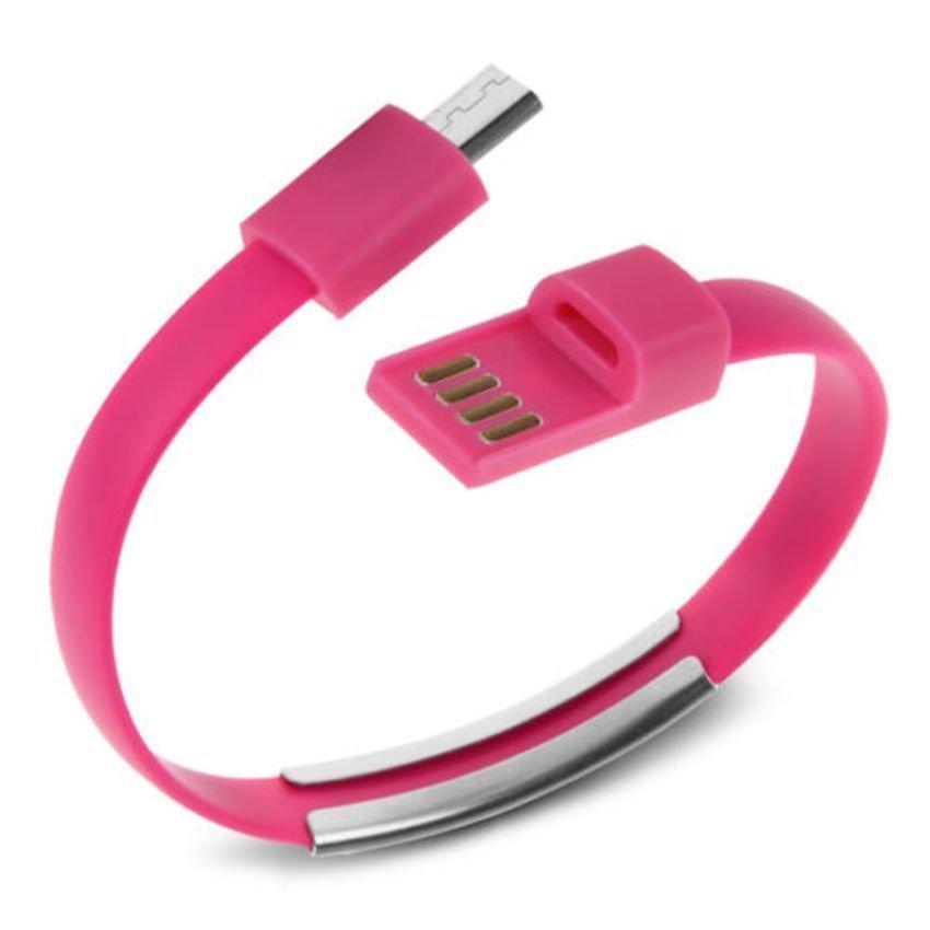 Sky Kabel Data Gelang Micro USB - Pink