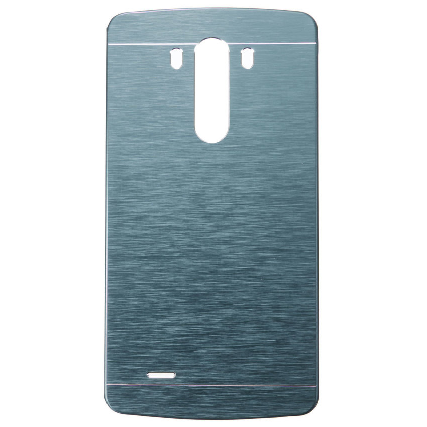 Slim Brushed Metallo and PC Custodia Cover Hard Protettiva Case Per LG G3 D850 D855 Blue (Intl)
