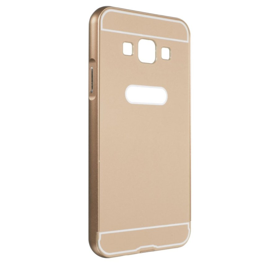 Slim Metal Aluminum Bumper PC Case for Samsung A3/5/78 S6 (Golden) (Intl)
