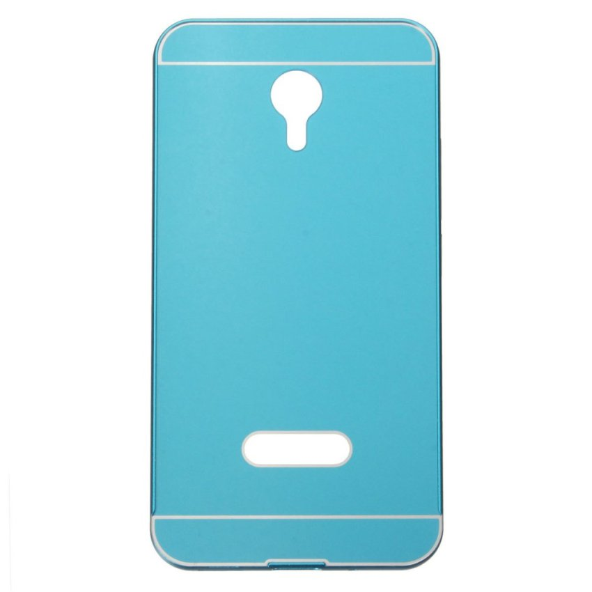 Slim Metal Frame Bumper PC Hard Back Cover Case for MEIZU MEILAN M2 Note (Blue) (Intl)
