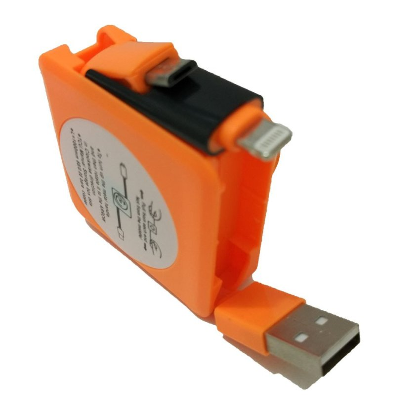 Smart Cable 2 in 1 Apple And Micro USB Cable tarik - Orange