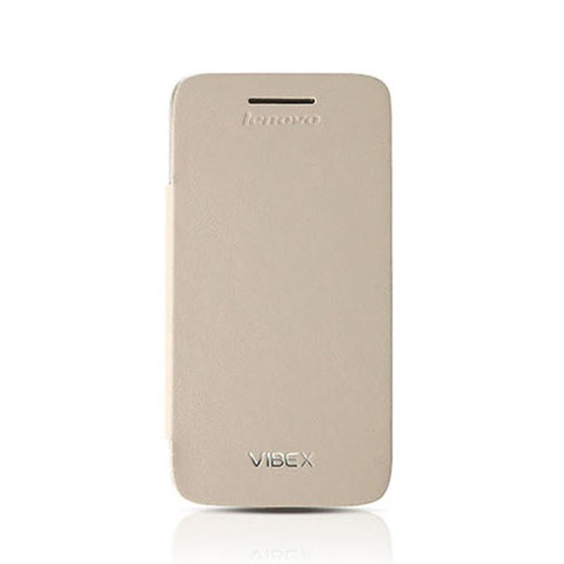 Smart Flip Cover case Original for Lenovo S960 Beige