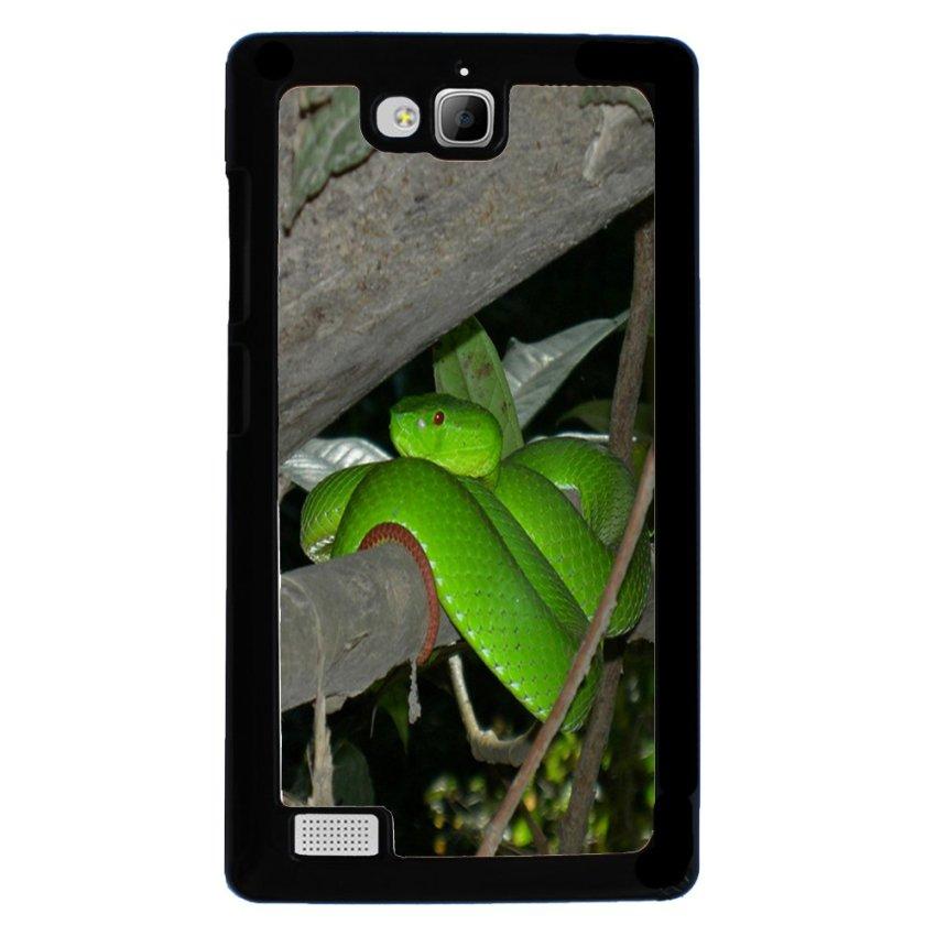 Snake Print Pattern Phone Case for Huawei Honor 3c Black (EXPORT)