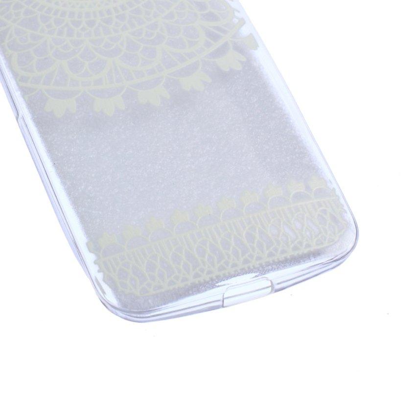 Soft Gel TPU Case for Motorola Moto G2 Gen Durable Silicone Skin Cover Fashion Pattern (White)