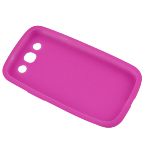 Soft Silicon Shell Case + Clear Protector + Touch Pen for Samsung Galaxy S III I9300 (Pink) (Intl)