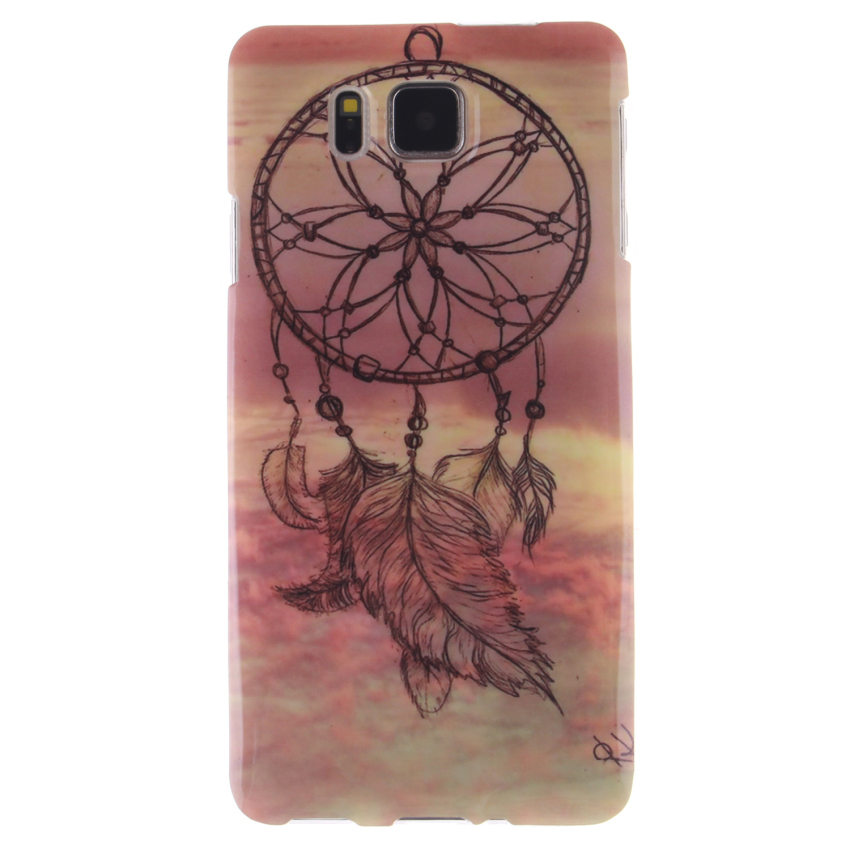 Soft TPU Back Cover With Dreamcatcher Painting for Samsung Galaxy Alpha (Multicolor) (Intl)