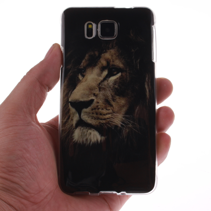 Soft TPU Back Cover With Lion Painting for Samsung Galaxy Alpha (Multicolor) (Intl)