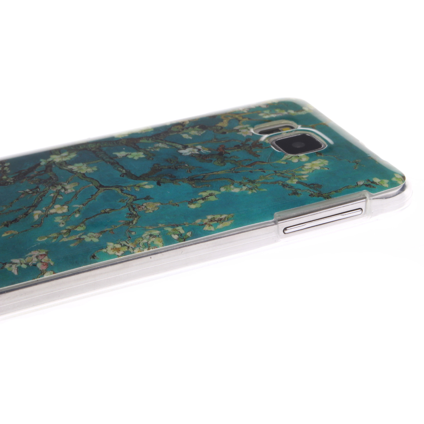Soft TPU Back Cover With Trees Painting for Samsung Galaxy Alpha (Multicolor) (Intl)