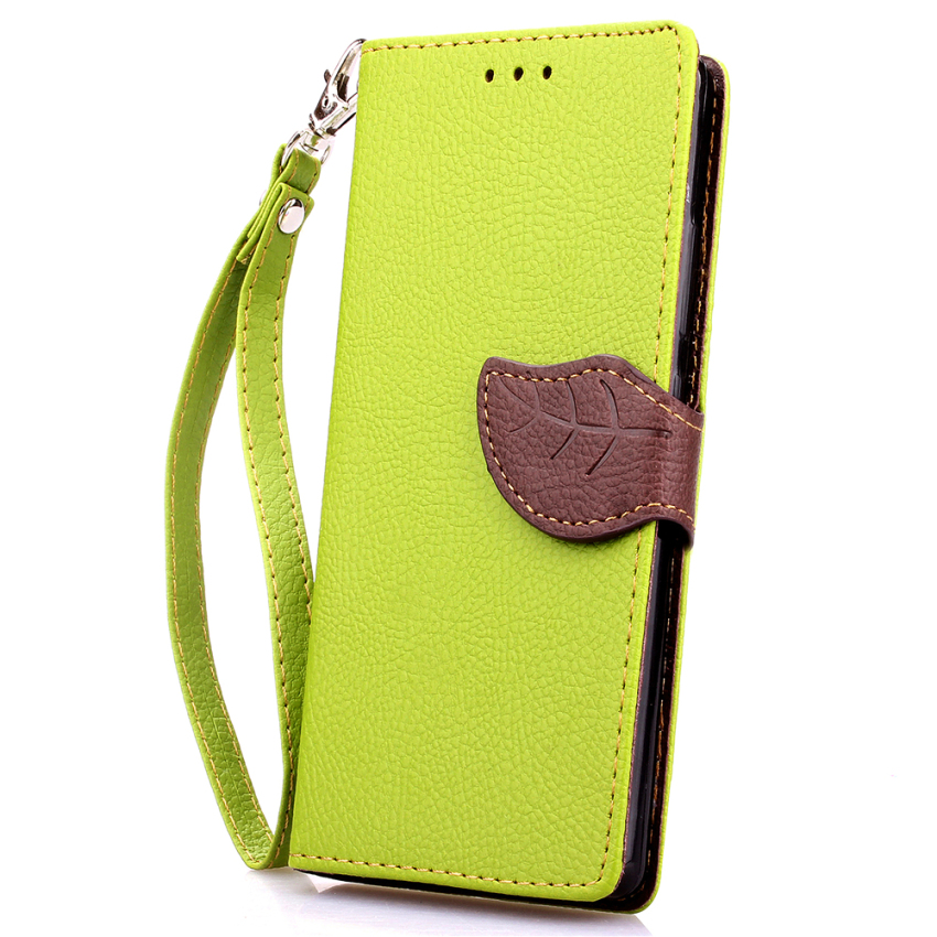 Soft TPU Flip Leather Wallet Cover with Card Slot Holder for Huawei Ascend P8 Lite (Green) (Intl)