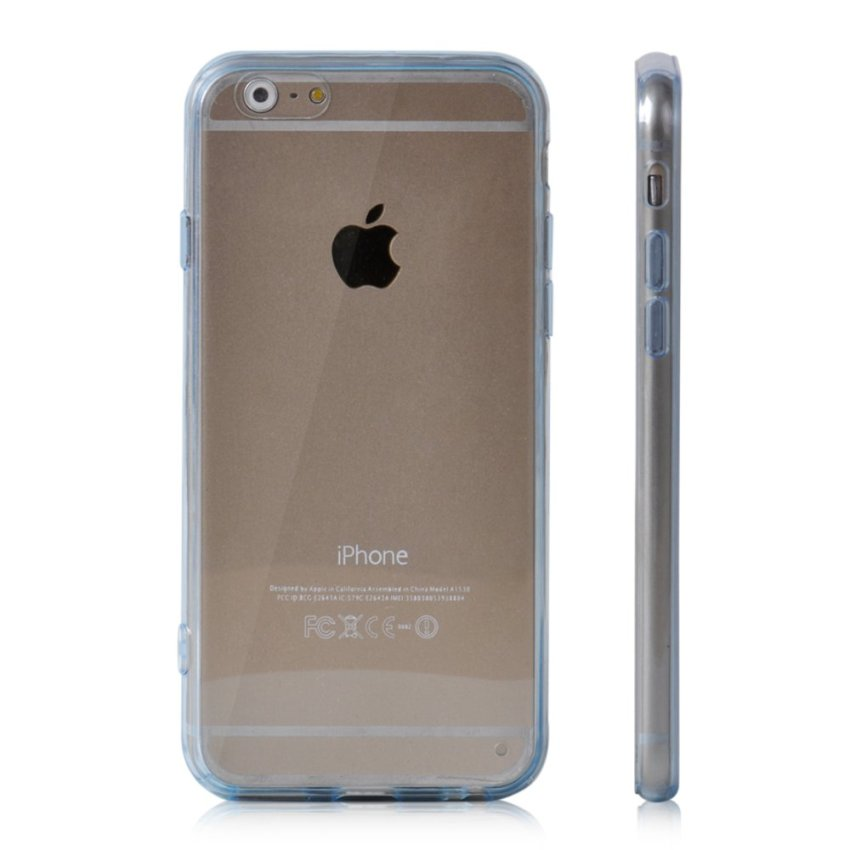Soft TPU Gel Transparent Crystal Clear Invisible Case Cover for iPhone 5 5S (Blue) (Intl)