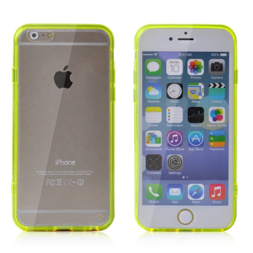Soft TPU Gel Transparent Crystal Clear Invisible Case Cover for iPhone 6 (Green) (Intl)