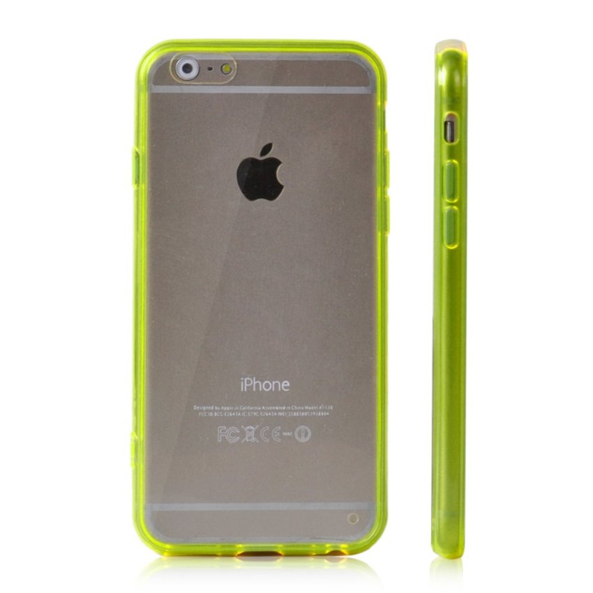 Soft TPU Gel Transparent Crystal Clear Invisible Case Cover for iPhone 6 Plus (Yellow) (Intl)