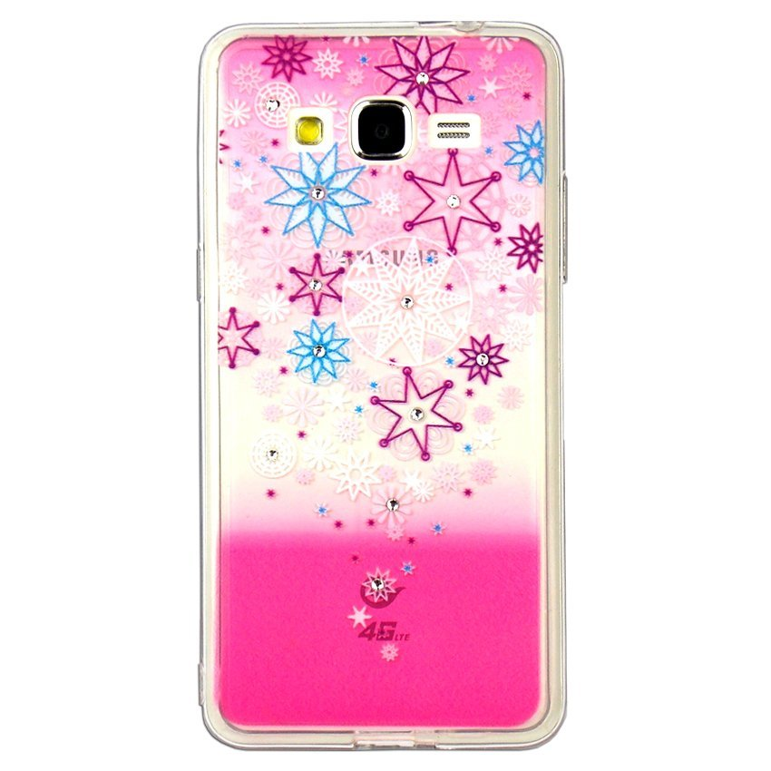 Softcase Fuze Flower Swarovsky for Samsung Galaxy V G313 - Motif 3