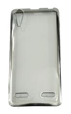 Softcase Lenovo A6000 List Chrome - Silver transparant