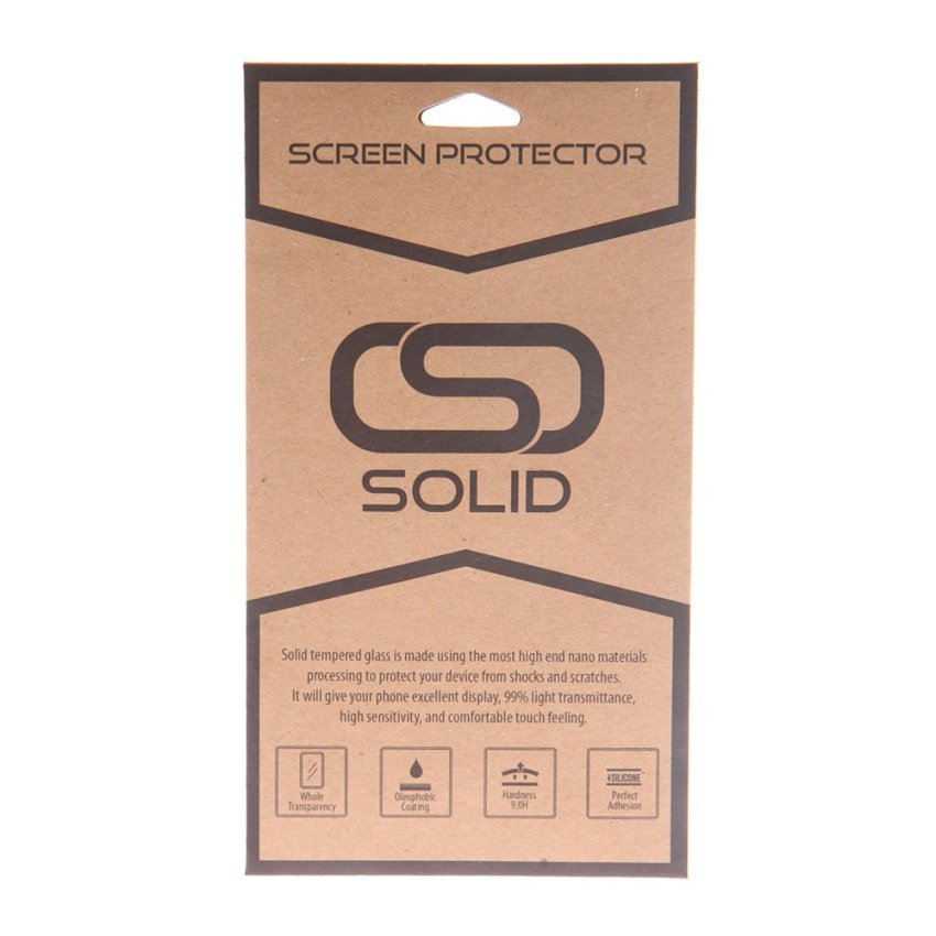 Solid Tempered Glass Screen Protector for iPhone 5/5S/5C