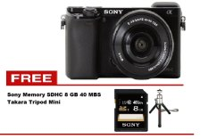 Sony Alpha A6000 Kit 16-50mm + Gratis Tripod Mini Takara + Memory Sony 8 GB
