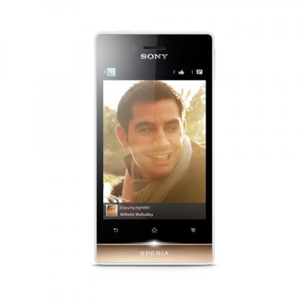 Sony Xperia Miro ST23i - 4 GB - White/Gold