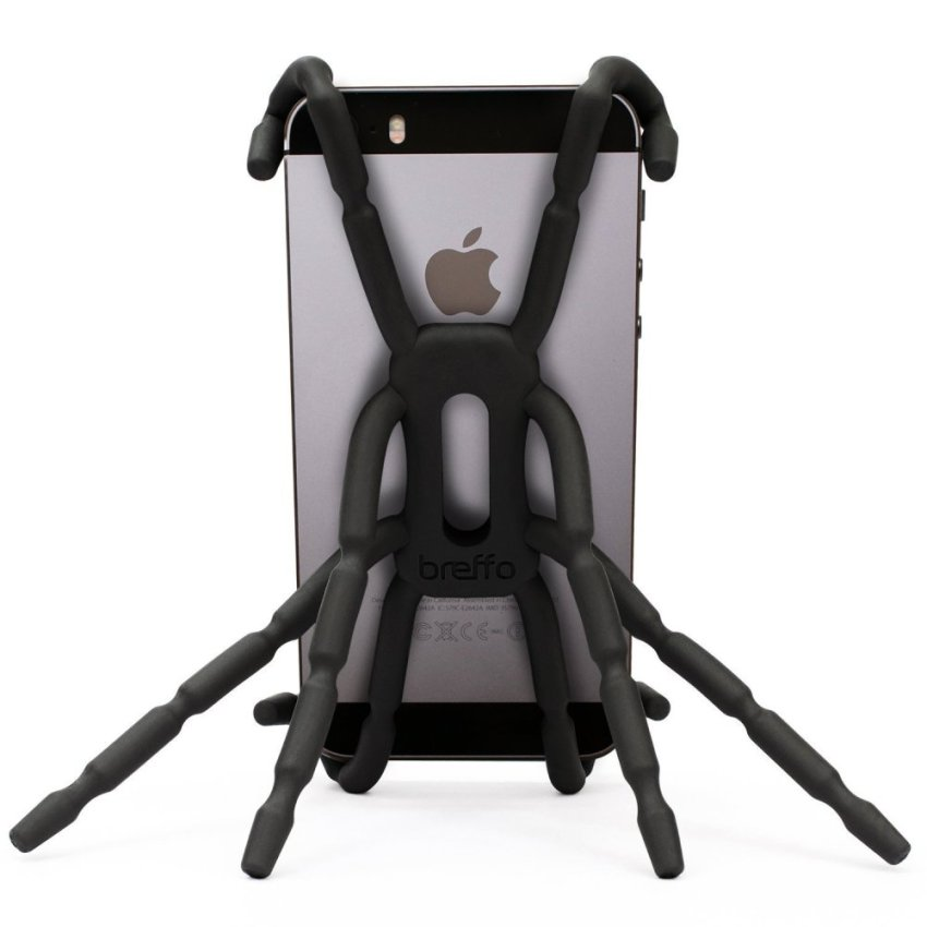 Spider Car Mount Holder Universal Phone Car Holder Mount and Stand For iPhone 6 5S 5C 5 4S 4 Samsung Galaxy S5 S4 S3 S2 Note 3 and Andriod Phones (Black) (Intl)