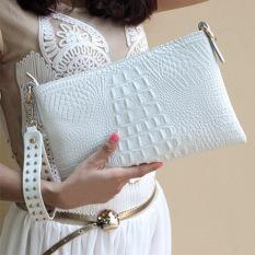 Spring And Summer Clutch Genuine Leather For Women'S Crocodile Clutch Bag Big Day Clutch Women'S Cowhide Cross-Body Handbag - Intl