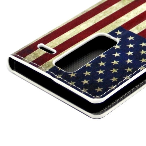 Stars and Stripes Pattern Leather Flip Cover for LG Class/LG Zero (Multicolor) (Intl)