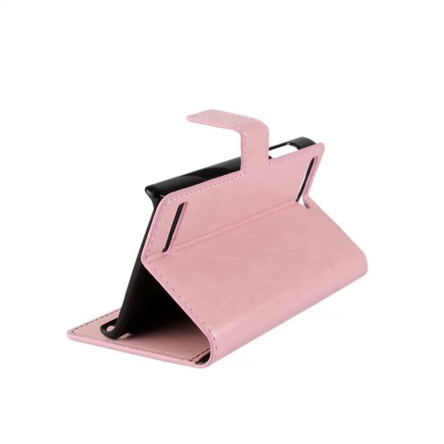 Stripe Purse Holster Cover for Huawei Ascend G6 (Pink)