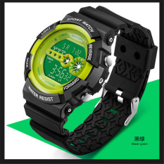 Student Electronic Watches Sports Watch Dual Display Multifunction Male Table - Intl