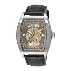 Stuhrling Original Men's 182C2.331554 Millennia Prodigy Automatic Skeleton Grey Dial Watch (Intl)