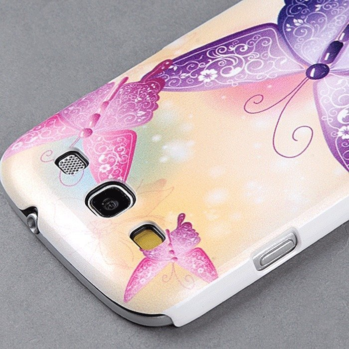 Stylish Butterfly Pattern Hard Back Case for Samsung Galaxy S3 Siii S111 I9300 (Multicolor) (Intl)