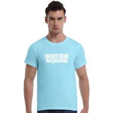 Suicide Squad Aim At (White) Cotton Soft Men Short T-Shirt (Powder Blue) - Intl