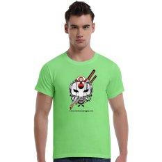 Suicide Squad Katana Cherry Blossoms Cotton Soft Men Short T-Shirt (Green) - Intl