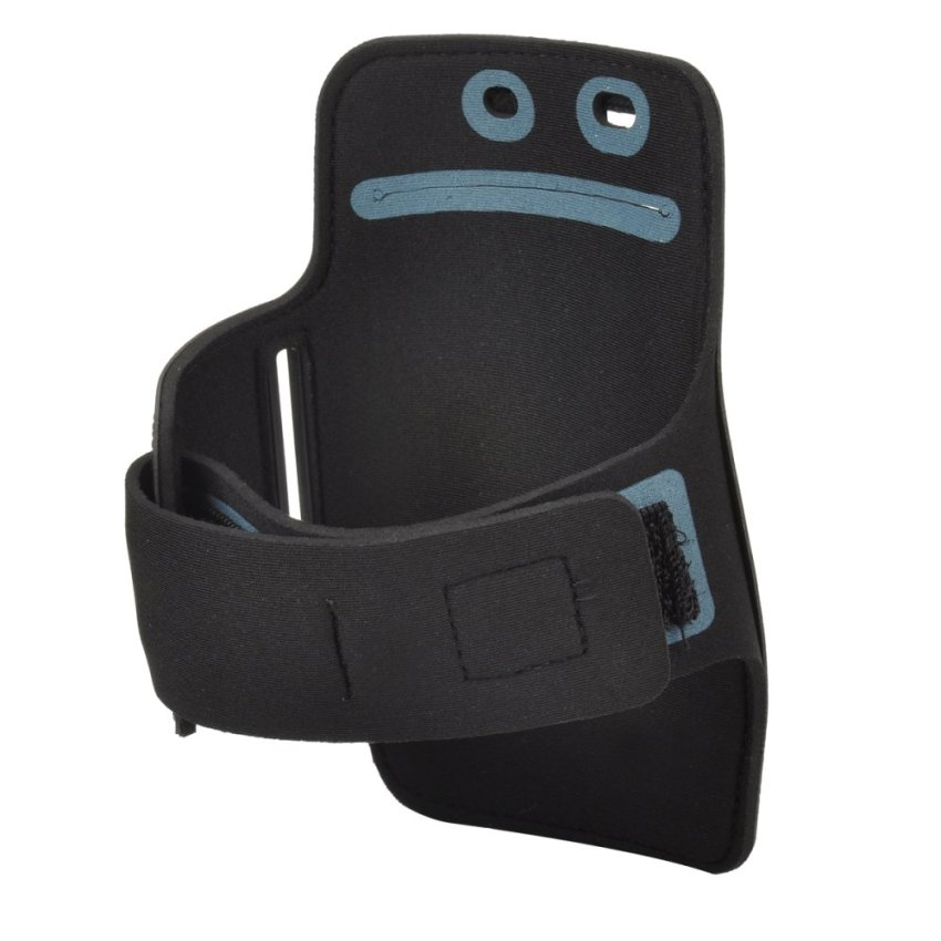 SUNSHINE Convenient Velcro Tape Nylon + PVC Armband Bag for Sony Xperia Z2 / L50W - Black