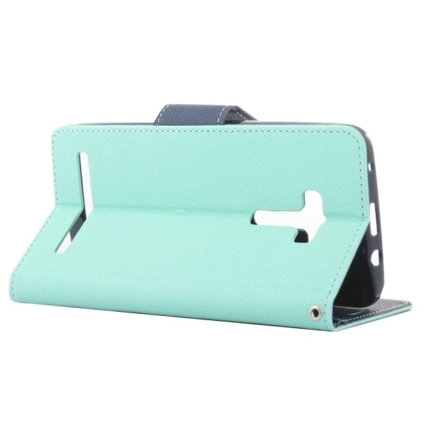 SUNSKY Color Matching Cross Texture Horizontal Flip Leather Cover for Asus Zenfone Selfie / ZD551KL(Green) (Intl)