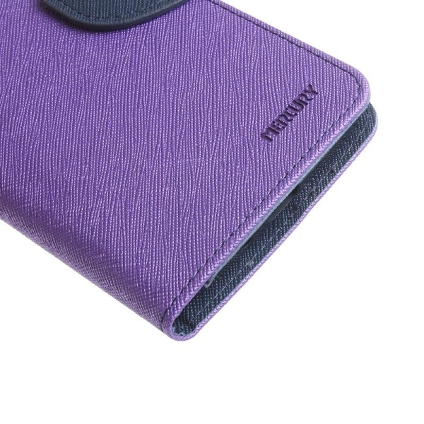 SUNSKY Color Matching Cross Texture Horizontal Flip Leather Cover for Asus Zenfone Selfie / ZD551KL(Purple) (Intl)