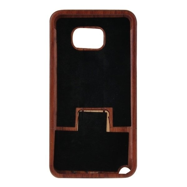 SUNSKY Constandine Pattern Separable Rosewood Wooden Back Case for Samsung Galaxy Note 5 / N920 (Brown) (Intl)