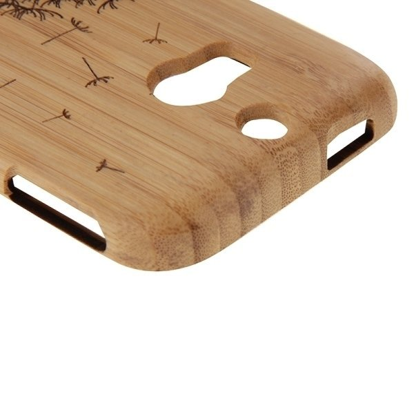 SUNSKY Dandelion Pattern Separable Bamboo Wooden Case for HTC One M8 (Brown) (Intl)