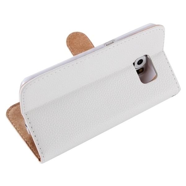 SUNSKY Diamond Encrusted Pattern Horizontal Flip Leather Cover for Samsung Galaxy S6 Edge+ / G928 (White) (Intl)