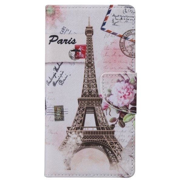 SUNSKY Eiffel Tower Pattern Horizontal Flip Leather Case with Holder Card Slots Wallet for Microsoft Lumia 950 (Multicolor) (Intl)