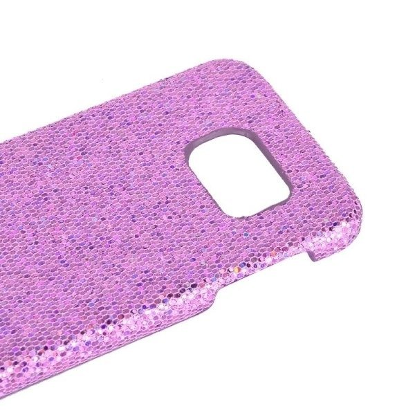 SUNSKY Flash Powder Skin Paste Plastic Protective Case for Samsung Galaxy S6 / G920 (Lilac) (Intl)