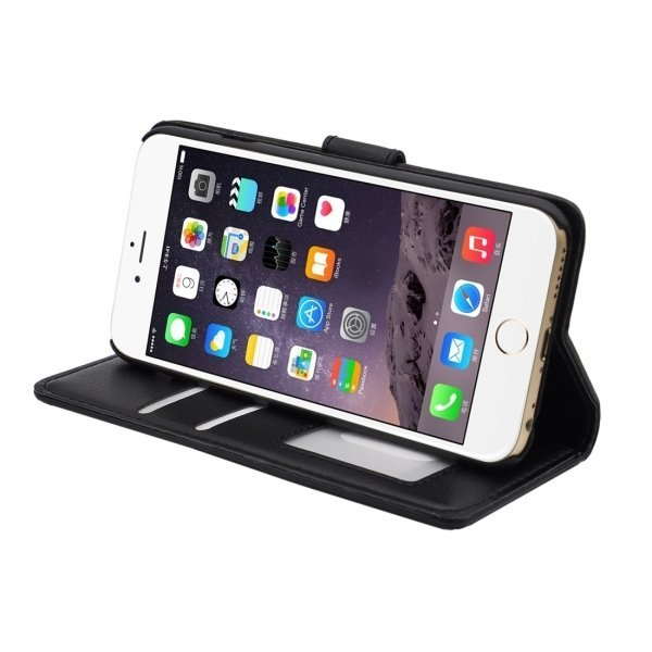 SUNSKY Flip PU Leather PC Cover for iPhone 6/6S (Black) (Intl)