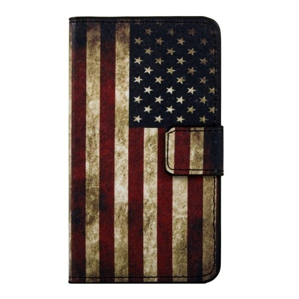 SUNSKY Flip PU Leather PC Cover with Magnetic Snap Card Slots Holder Wallet for Huawei Shotx / Honor 7i (Multicolor) (Intl)