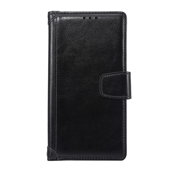SUNSKY Flip PU Leather PC Cover with Wallet Card Slots Holder for Sony Xperia Z5 (Black) (Intl)