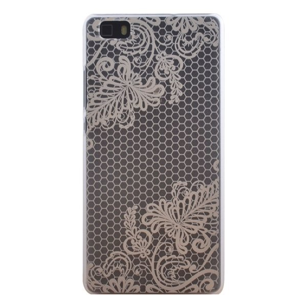 SUNSKY Flower Pattern PC Protective Case for Huawei P8 Lite (Brown) (Intl)