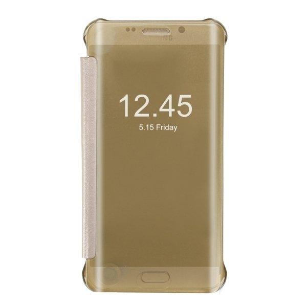 SUNSKY Horizontal Flip PU+PC Combination Cover with Sleep / Wake-up Function for Samsung Galaxy S6 edge+ / G928 (Gold) (Intl)